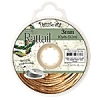Rattail Cord 3mm 10 Yds With Re-useable Bobbin Gold Bronze